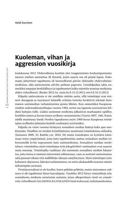 Journalismi kritiikin vuosikirja