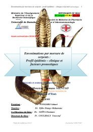 Envenimations par morsure de serpents : Profil épidémio – clinique ...