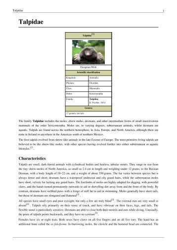 Talpidae - Omaha Pest Control Inc