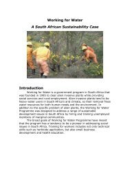 Working for Water A South African Sustainability Case Introduction