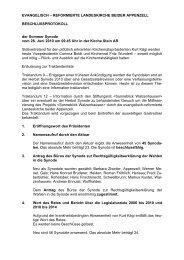 Beschlussprotokoll Sommer Synode 2010 - Landeskirche