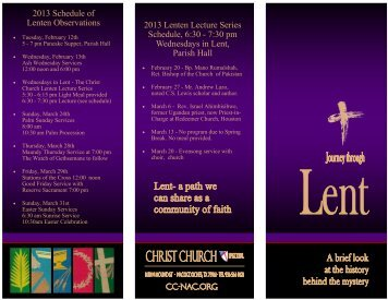 Lent Brochure Master 2013 - Christ Episcopal Church