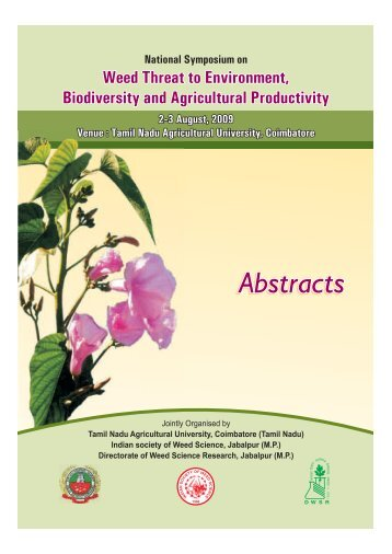 Abstract - 2009 - Indian Society of Weed Science