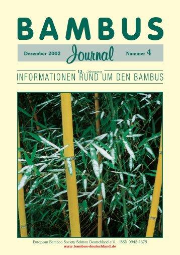 INFORMATIONEN RUND UM DEN BAMBUS - Forum