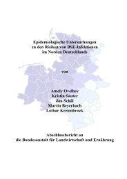 Epidemiologische Untersuchungen zu den Risiken von BSE ... - BLE