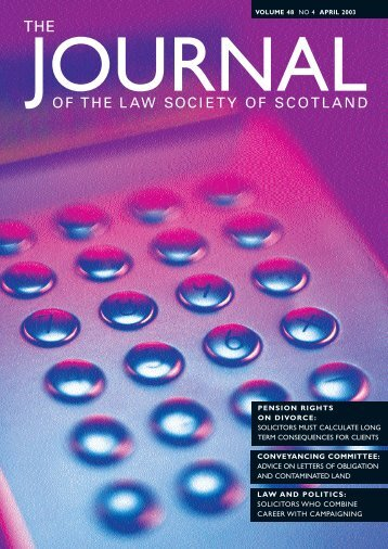 Law Society of Scotland - The Journal Online