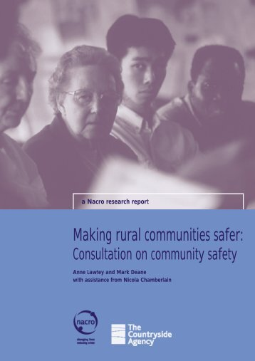 Making rural communities safer: - Nacro