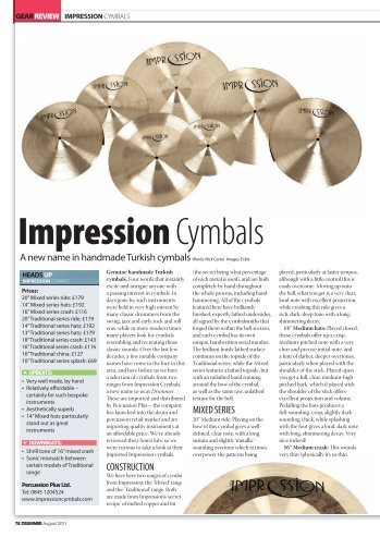 Drummer Magazine review of the Impression ... - Percussion Plus