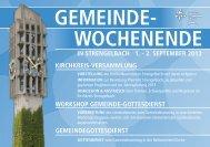 2. SEPTEMBER 2012 GEMEINDE - Ref. Kirchgemeinde Zofingen