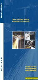 Gas welding safety flashback arresters - Department of Commerce