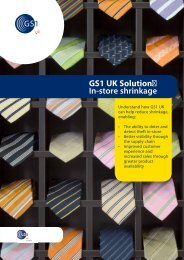 GS1 UK Solution: In-store shrinkage
