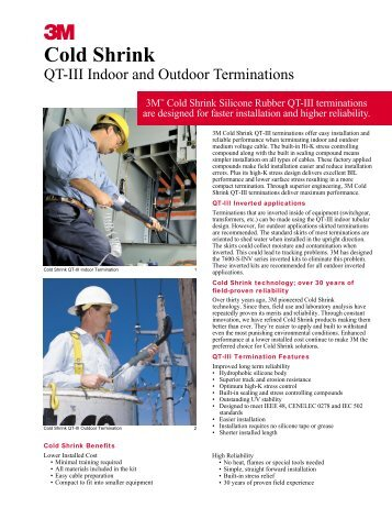 Cold Shrink QT-III Indoor And Outdoor Terminations - 3M