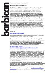 Cross-arts: April 2013 monthly round-up pdf - Barbican