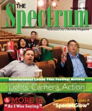 MORE in - The Spectrum Magazine - Redwood City's Monthly ...