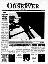 Ucal candidates to resume verbal sparring - the Quesnel & District ...