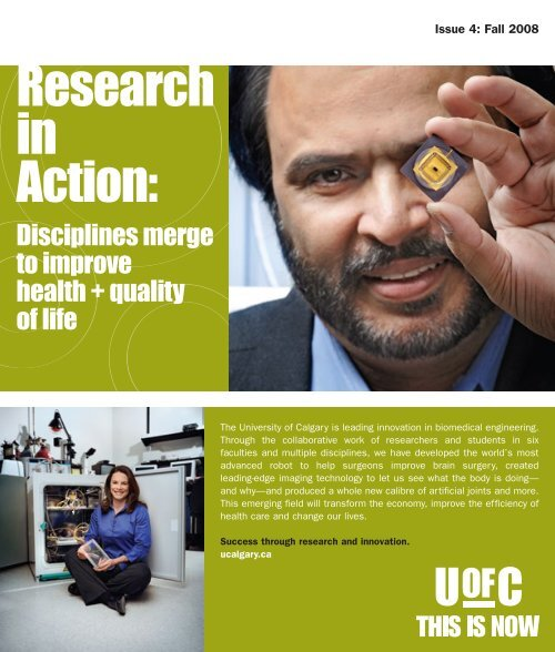 Research in Action: - University of Calgary