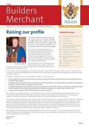 builders merchant - The Worshipful Company of Builders Merchants