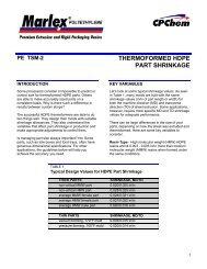 pe tib-81 thermoforming hdpe parts - Yemm & Hart