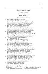 PIERS PLOWMAN ca. 1372–1389 From Passus 5* - WW Norton ...