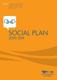 Strathfield Council Social Plan 2009-2014 1 The Social Plan informs ...