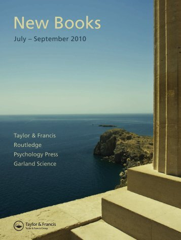 New Titles Seasonal July - September 2010 (US) - Routledge