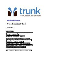Trunk Gradebook Guide (PDF) - About
