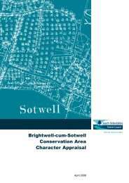 Brightwell cum Sotwell Conservation Area Character Appraisal
