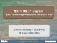 NSF's TUES* Program - Buffalo State