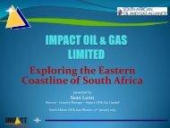 IMPACT OIL & GAS LIMITED - SAOGA