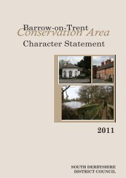 Barrow on Trent statement adopted 2011 - South Derbyshire District ...