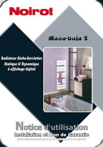 Notice Seche serviette mono bain 2 - SAV - Noirot