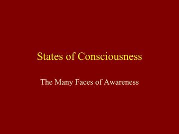 States of Consciousness - Dmcmill.org