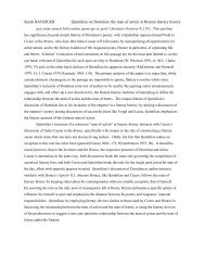 Sarah DANZIGER Quintilian on Domitian: the man of action in ...