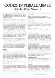 Codex: ImperIale armee - Games Workshop