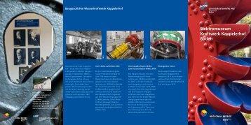 Elektromuseum Kraftwerk Kappelerhof Baden - Regionalwerke AG ...