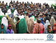 IOM: Serving the People of Afghanistan for 20 years - International ...