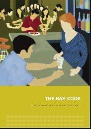 THE BAR CODE - Alcohol Advisory Council of New Zealand