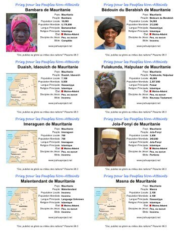 Bambara de Mauritanie Bédouin du Berabish de ... - Joshua Project