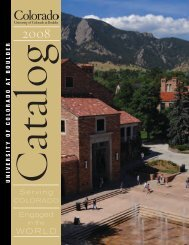 Serving Engaged - Office of the Registrar - University of Colorado at ...