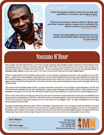 Yousssou N'Dour - International Music Network