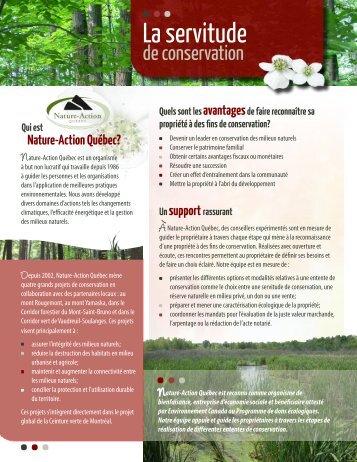 Servitude de conservation - Nature-Action Québec