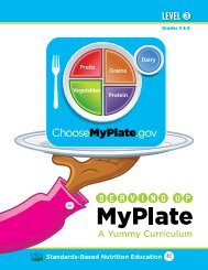 Serving Up MyPlate-A Yummy Curriculum, Level 3 - Team Nutrition ...
