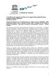 1 L'incidence du rapport servile sur le regard intersubjectif ... - Unesco