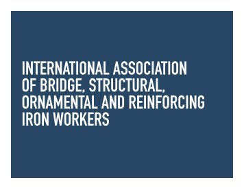 See the Iron Workers PDF for reference - Colleen Mavis Hill