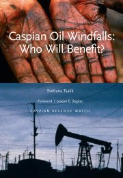 Caspian Oil Windfalls: Who Will Benefit? - Revenue Watch Institute