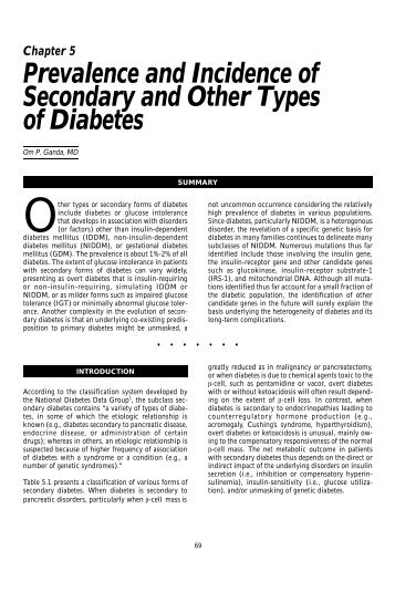 Chapt.5 - Prevalence and Incidence of Secondary and Other Types ...