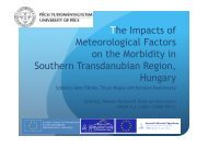The Impacts of Meteorological Factors on the Morbidity in Southern ...