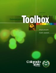 Toolbox - Graphic Standards - Colorado State University
