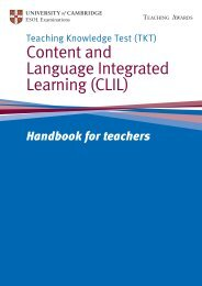 TKT CLIL handbook - Cambridge English