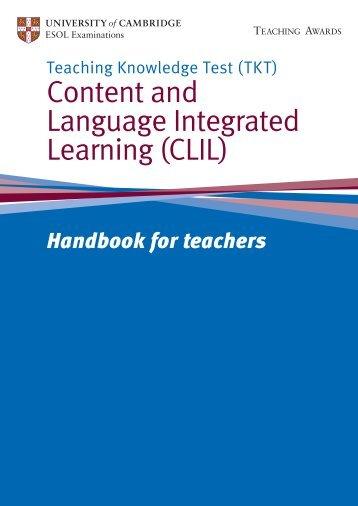 TKT CLIL handbook - Cambridge English